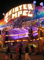 """Geister Tempel"" (Ghost Temple) ride, Hamburger DOM."